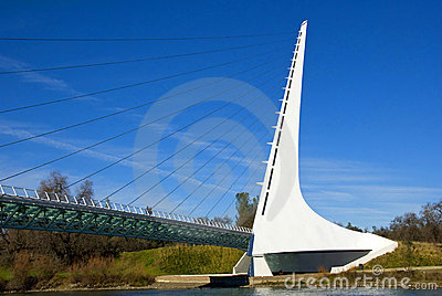 Sundial Bridge California Editorial Stock Image