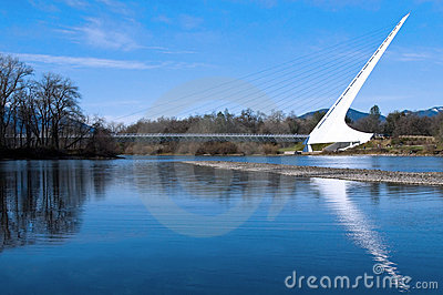 Sundial Bridge Redding California Editorial Photo