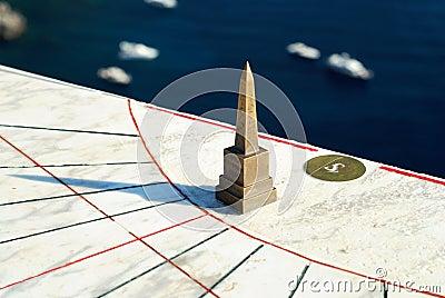 Sundial on Capri island