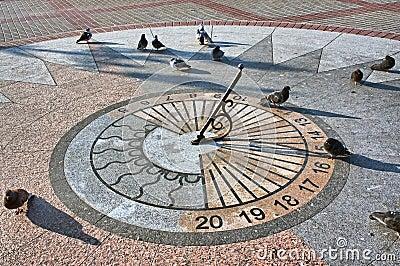 The sundial on granite base
