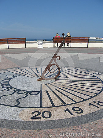 Sundial on the waterfront