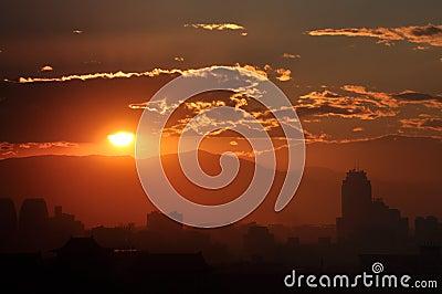 Sundown,in Beijing