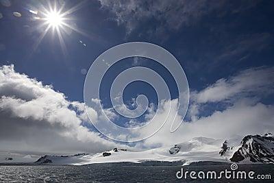 Sunflare in Antarctica.