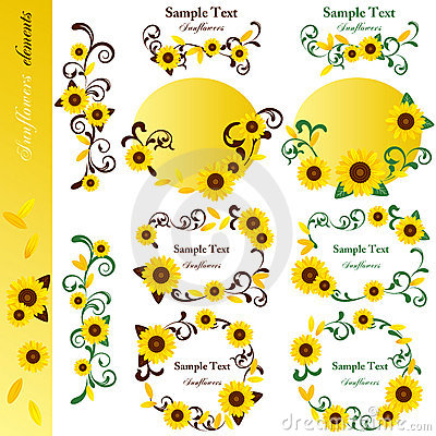 Sunflower elements set