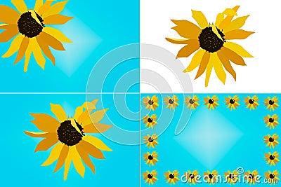 Sunflower Illustration Set