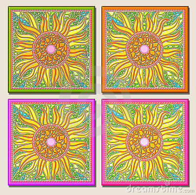 Free Sunflower Multi-mosaic Stock Images - 3312434