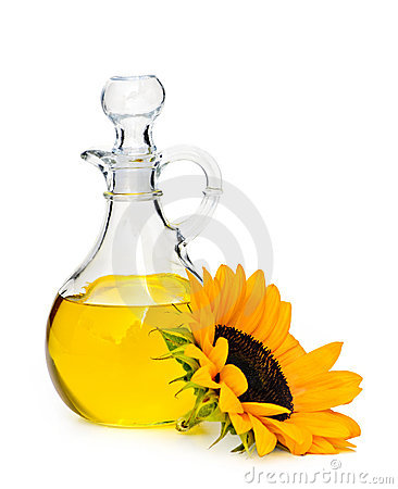 Free Sunflower Oil Bottle Royalty Free Stock Photo - 12569165