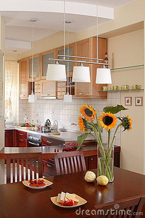 Free Sunflower`s Kitchen Stock Image - 918711