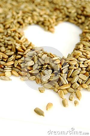 Sunflower seed heart