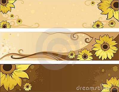 Sunflower summer positive banners