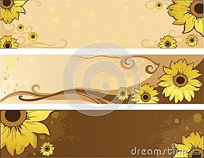 Sunflower summer positive banners
