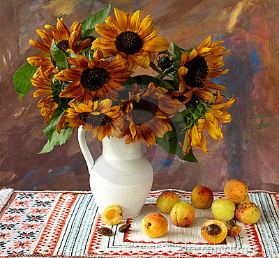 Free Sunflowers And Apricots Stock Photos - 10501773