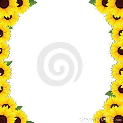 Sunflowers frame borders