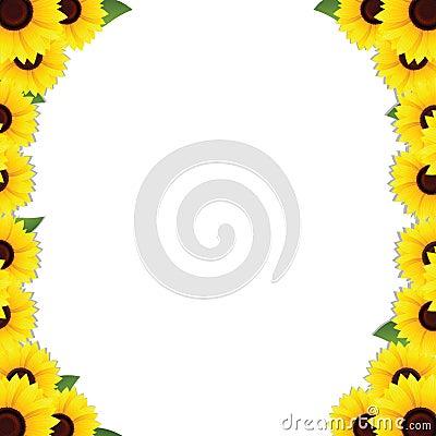 Sunflowers frame borders
