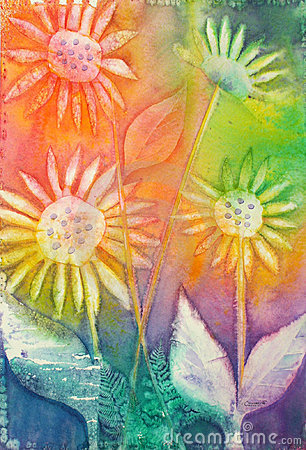 Sunflowers - Original Watercolor Painting