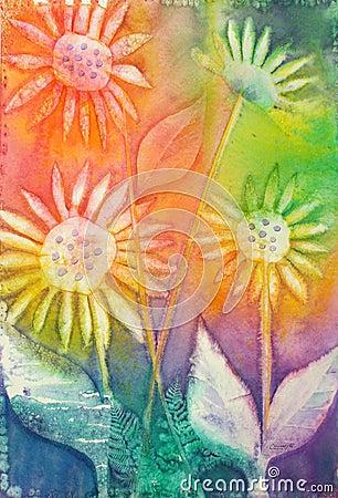 Free Sunflowers - Original Watercolor Painting Royalty Free Stock Photo - 133885