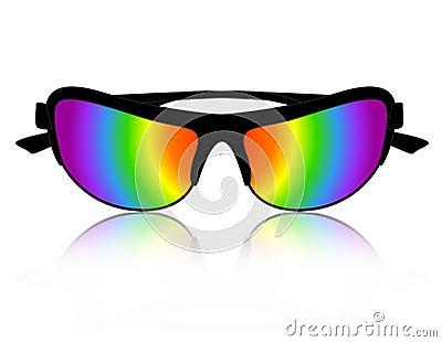 Sunglass rainbow color