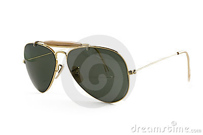 Sunglasses aviator style isolated on white