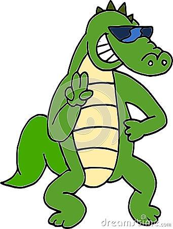 Sunglasses crocodile