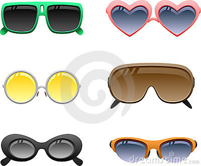 Sunglasses icon set 2