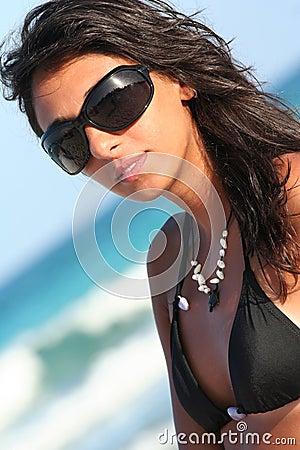 Free Sunglasses Italian Woman Stock Photography - 6035652