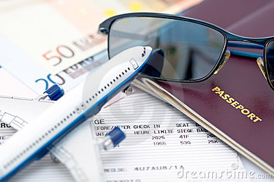 Sunglasses on passport