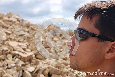 Sunglasses protect eye