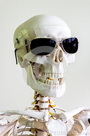 Sunglasses scary skull