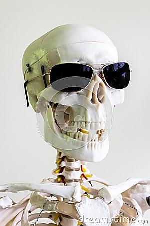 Sunglasses scary skull