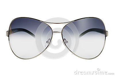 Sunglasses in a thin metal rim