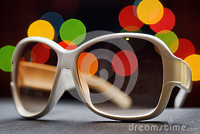 White plastic sunglasses