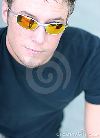 Sunglasses on Young Man