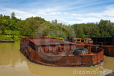 Sunk Old Boat