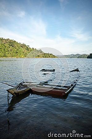 Sunken Boats in a Lake