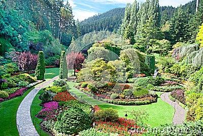 Sunken Garden at Butchart Gardens, Central Saanich, British Colu