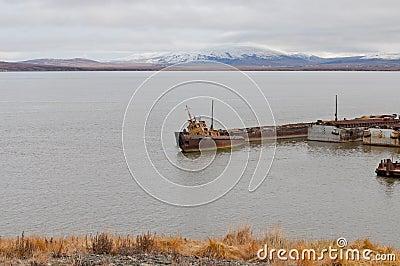 Sunken longboat