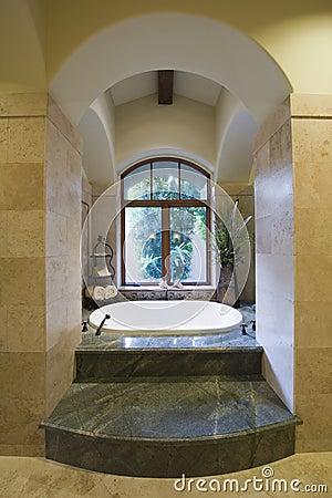 Sunken Marble Bath At Home