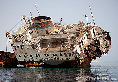 Sunken Russian ship.
