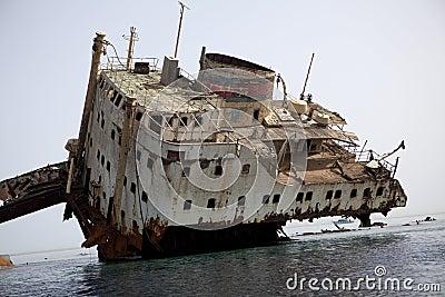 Sunken Russian ship.