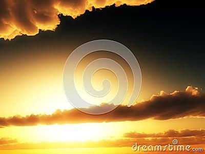 Sunlight In Clouds