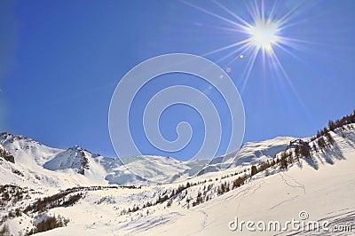 Sunlight on the mountain