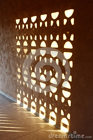 Sunlight projection on wall
