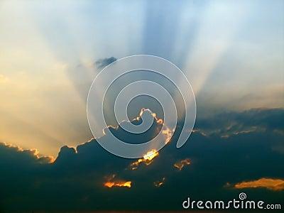 Sunlight sky