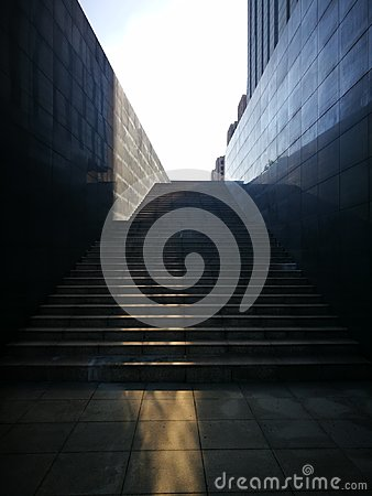Free Sunlit Being Reflected On The Stairs Stock Photos - 99981963