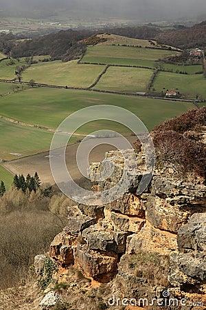 Sunlit cliff