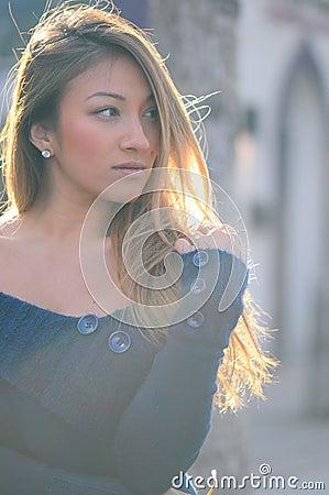 Sunlit Outdoor Portrait Of Woman Free Public Domain Cc0 Image
