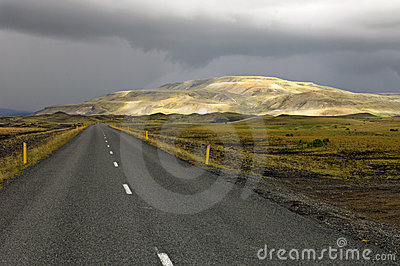 Sunlit Rhyolite Mountains