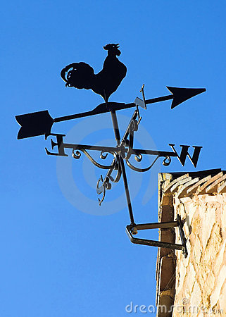 Sunlit Weather Vane