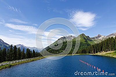 Sunny Alps Lake
