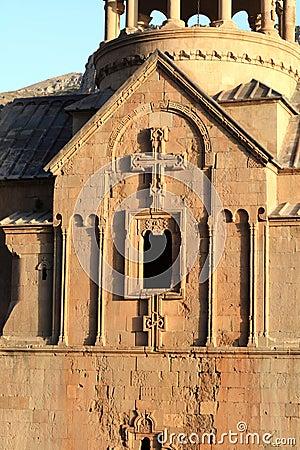 Sunny ancient church